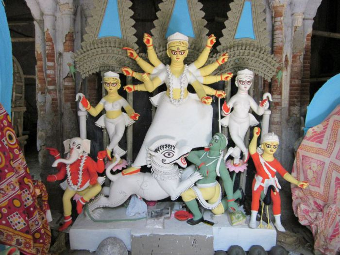 durga protima making
