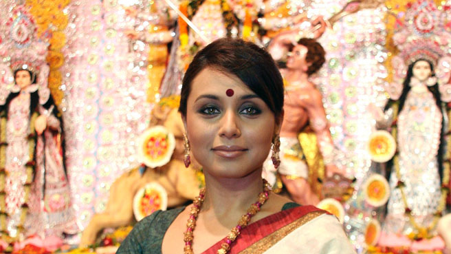 rani mukherjee during Durga Puja Mumbai