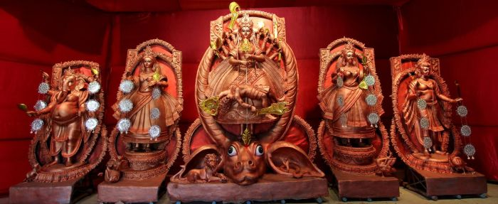 CR Park Durga Puja Photo
