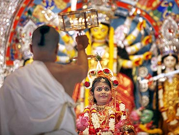 Image result for kumari puja