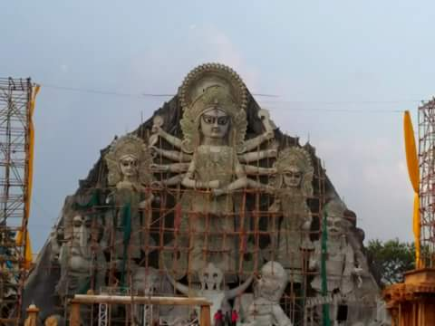 worlds tallest durga idol