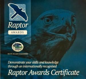 Raptor Awards header
