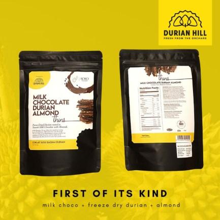Milk Chocolate Durian Almond KOKO et paquet