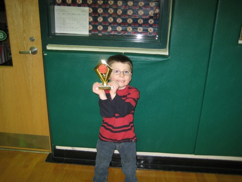Colin with trophy