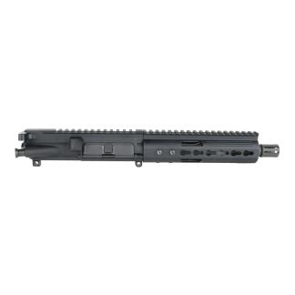 AR-15 Complete Pistol Upper Assembly- 7.5 4150 Parkerized M4 Contour Barrel Without Bolt Carrier Group