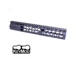 "12"" AIR LITE KEYMOD FREE FLOATING HANDGUARD WITH MONOLITHIC TOP RAIL"