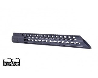 "15"" ULTRA LIGHTWEIGHT THIN KEY MOD FREE FLOATING HANDGUARD WITH SLANT NOSE"