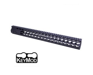 "16.5"" ULTRA SLIMLINE OCTAGONAL 5 SIDED KEY MOD FREE FLOATING HANDGUARD WITH MONOLITHIC TOP RAIL"