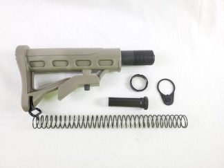 AR-15 Adjustable Stock w: Collapsible Buffer Tube Kit - 6 piece - ST003+ST007 - Green