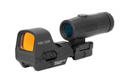 HOLOSUN HS510C 2MOA RED DOT REFLEX OPTIC & HM3X MAGNIFIER COMBO