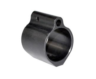 "Low Profile Gas Block for AR-10 Standard Barrels 0.936"", Black Steel"