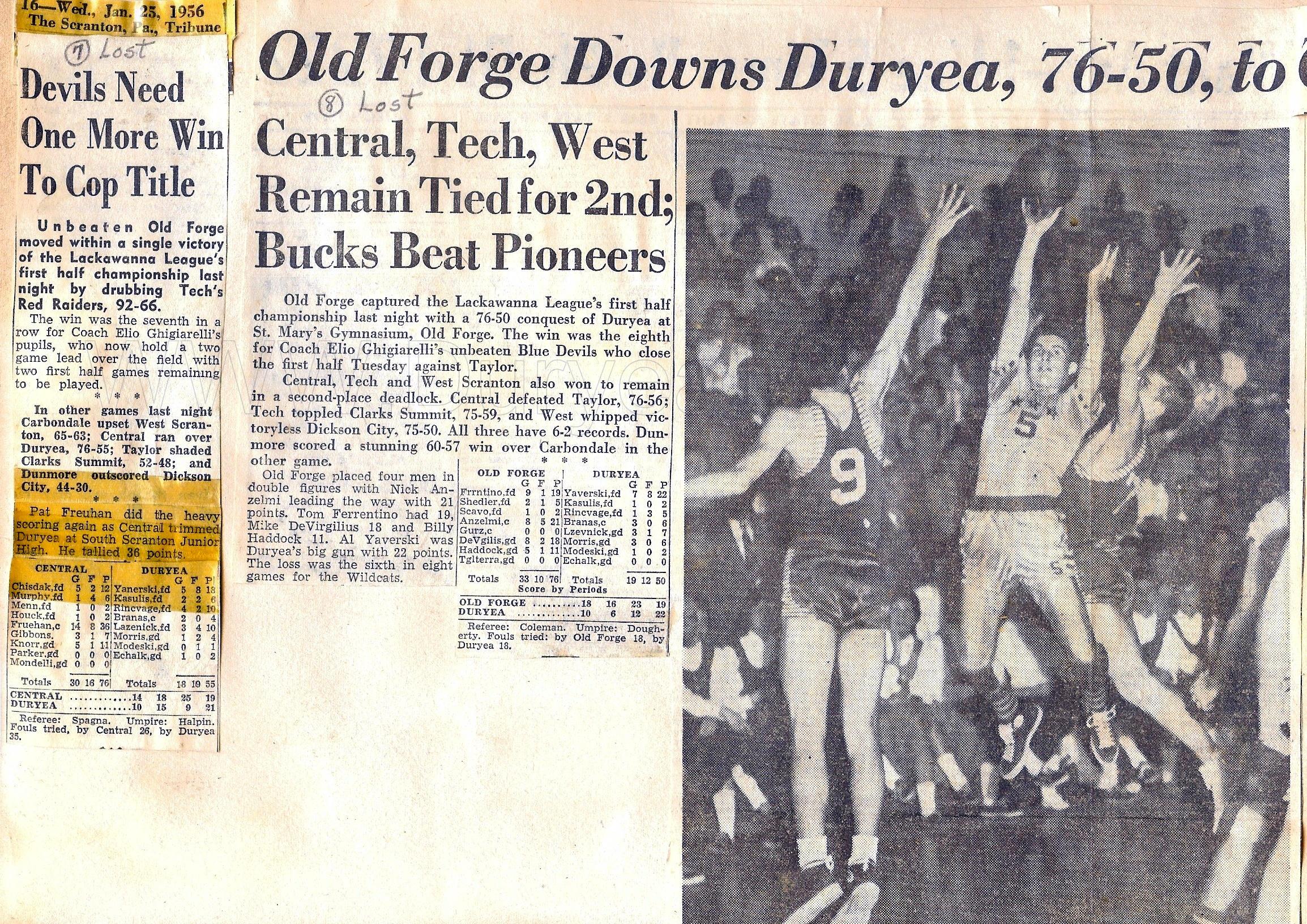 Duryea Pennsylvania Historical Homepage 1955 To 1959