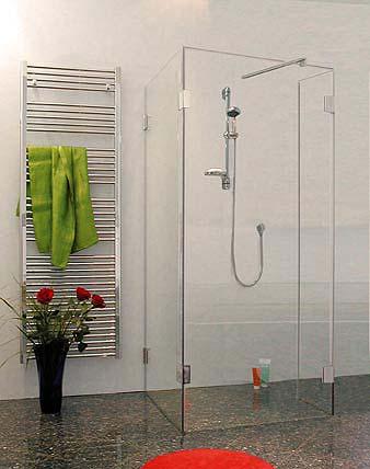 Duschkabine UForm  freistehende UDusche mit 3 GlasSeiten