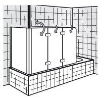 HSK Premium Softcube - Badewannenaufsatz 3-teilig mit ...