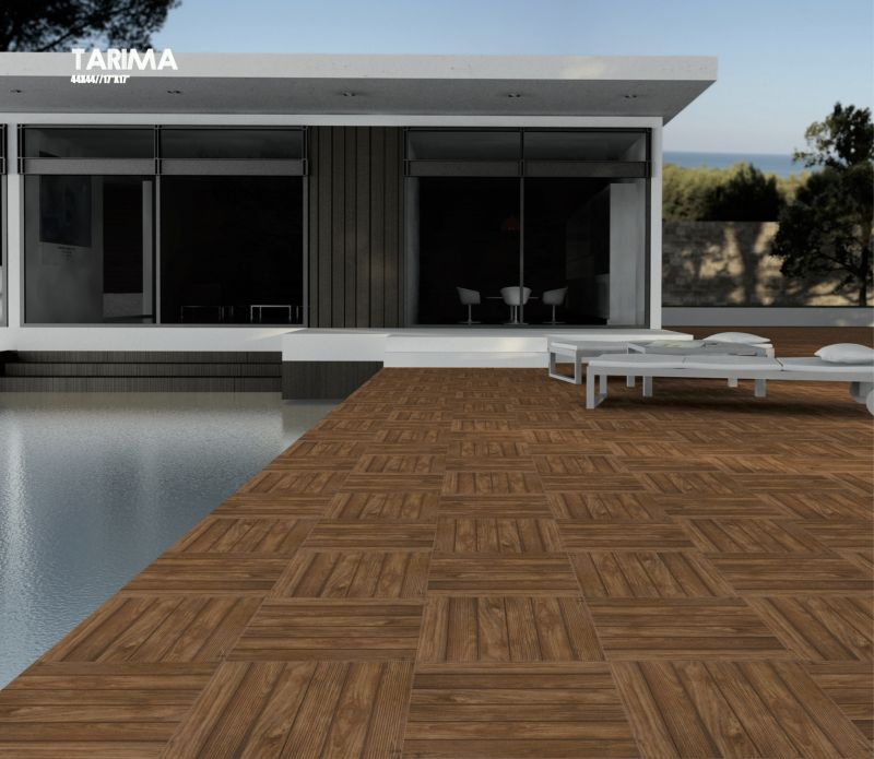 Boden und Wandfliesen Terrasse  TARIMA ANTISLIP Haya 44X44 cm Fliesen Feinsteinzeug