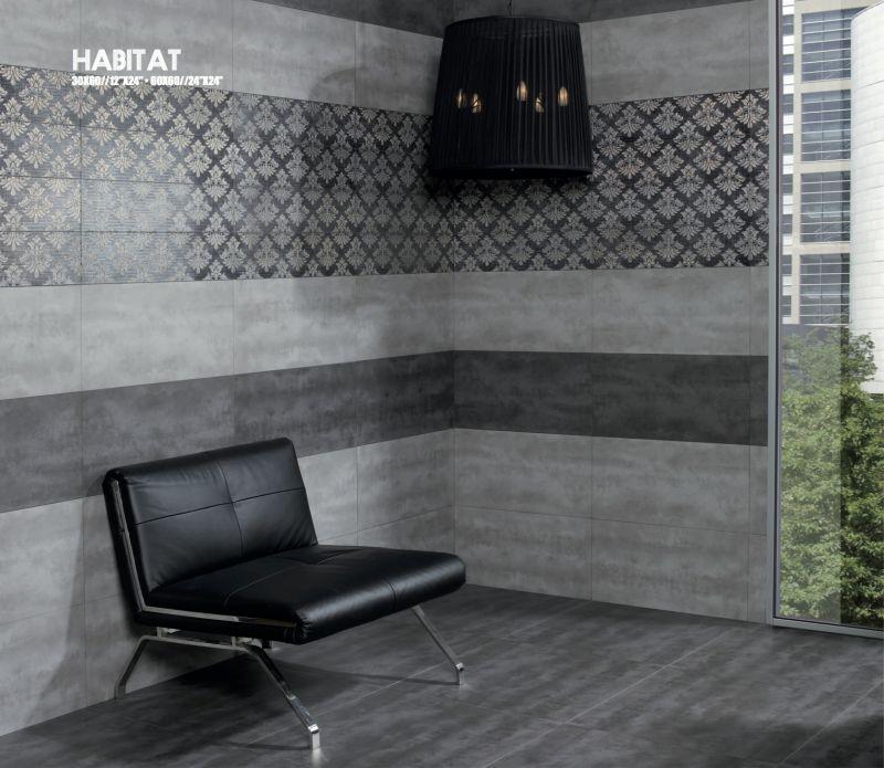 Boden und Wandfliesen Terrasse  HABITAT Grau 60x60cm  30x60 cm Fliesen Feinsteinzeug
