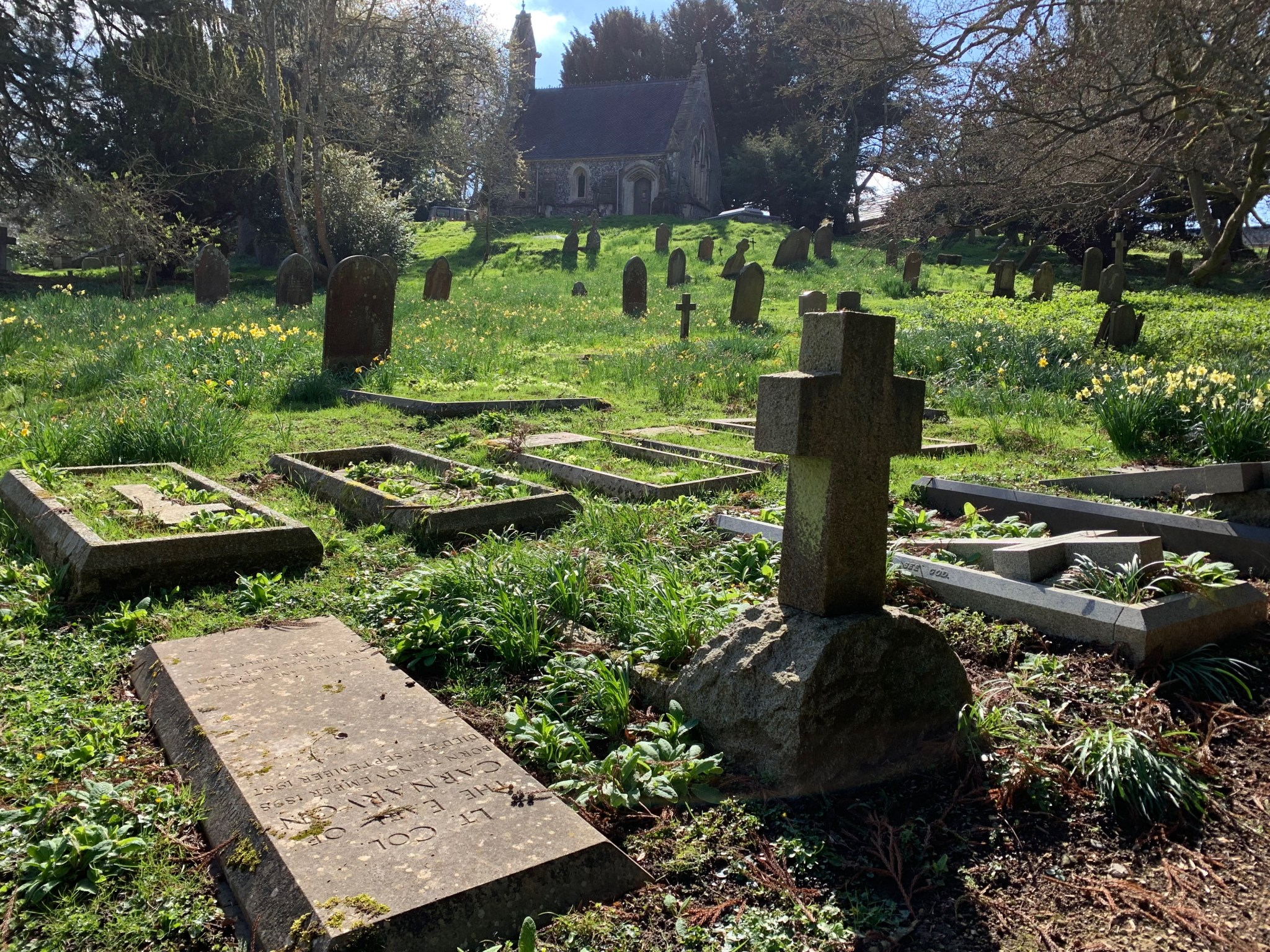 Highclere Graveyard toward Chapel