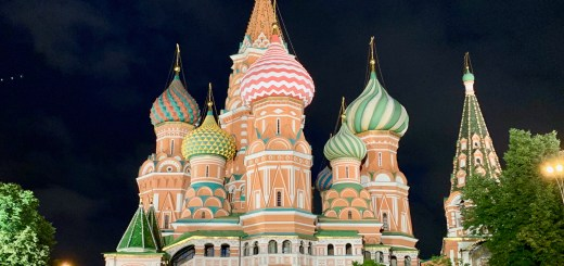 St. Basil's Cathedral at night