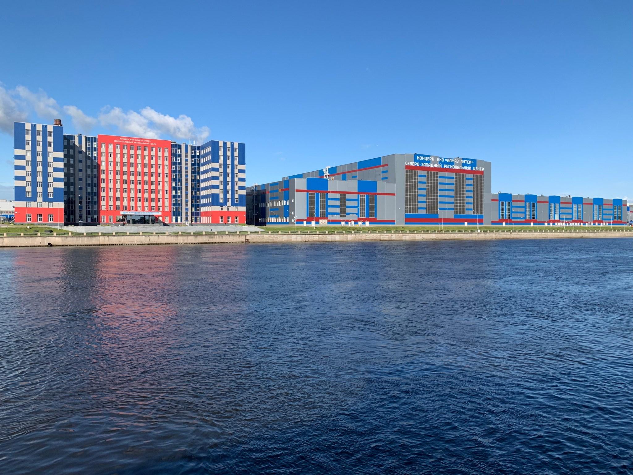 Buildings along the Neva River