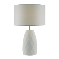 Dar Lighting Ciara White Table Lamp with White Linen Shade ...