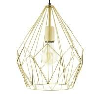 Eglo 49933 Carlton Gold Open Wire Cage Pendant Light