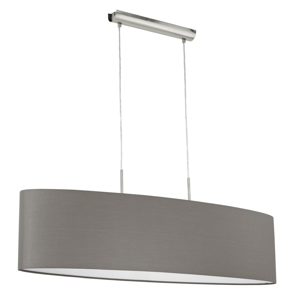 Eglo Pasteri Large Oval Anthracite Brown Pendant  Fitting