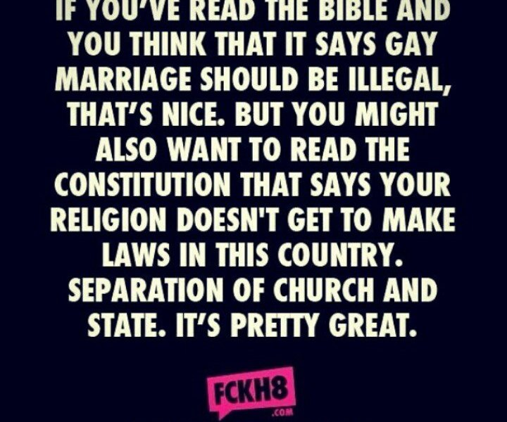 Separation of Church and State!