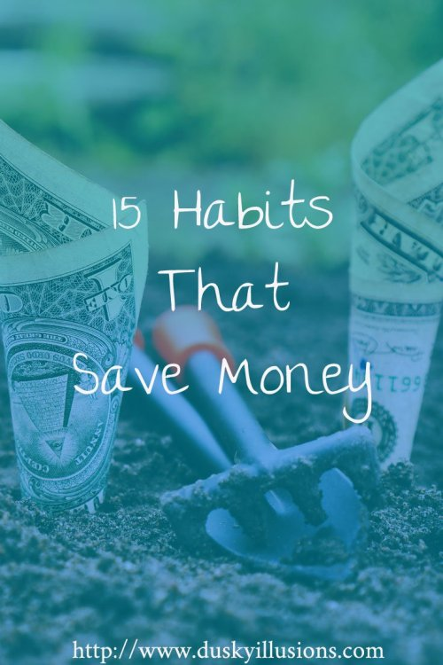 15 Habits that save money pin version
