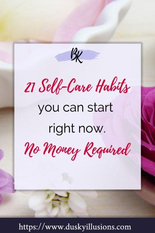 Self-care habits