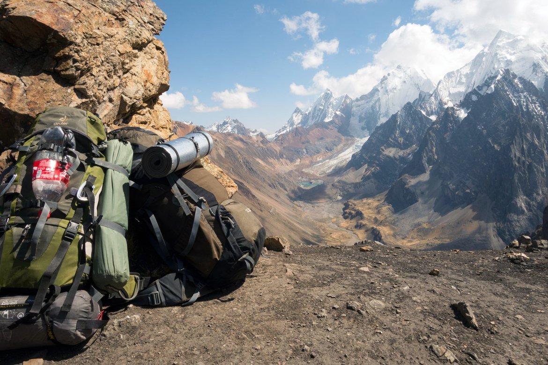 Header Packliste für Trekking in den Anden