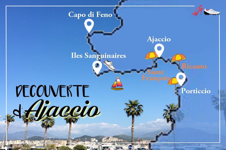 ROAD TRIP CORSE AJACCIO BLOG VOYAGE CARTE