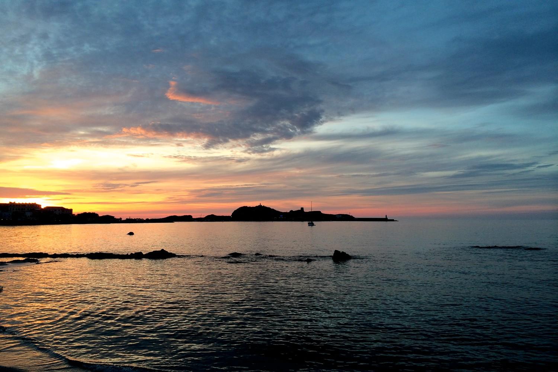 coucher de soleil ile rousse ile de la pietra blog voyage road trip corse