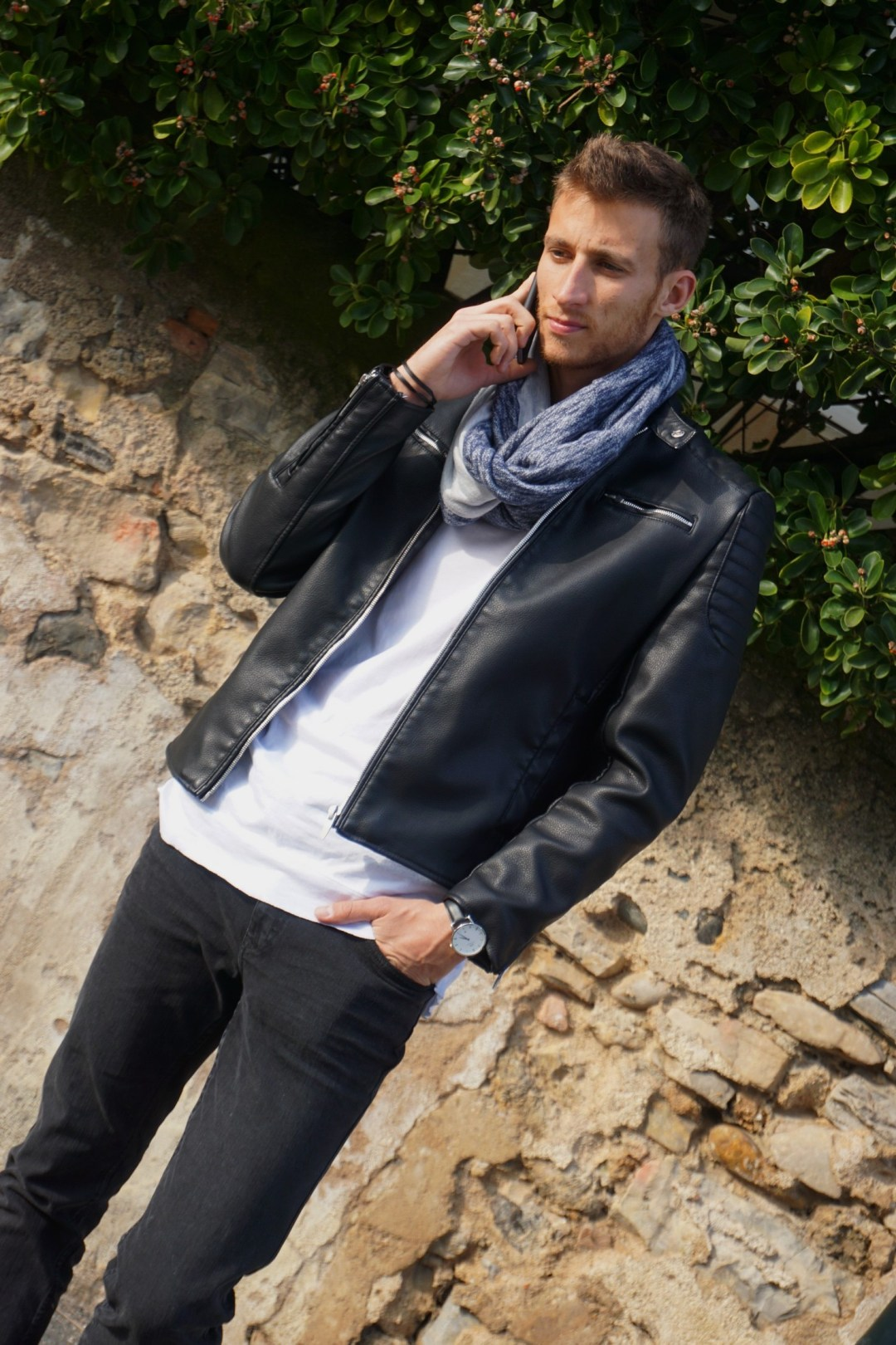 LOOK HOMME ROCK CHIC PERFECTO ZARA BLOG MODE COUPLE BORDEAUX BIDART WEEK END DANS LE PAYS BASQUE 13