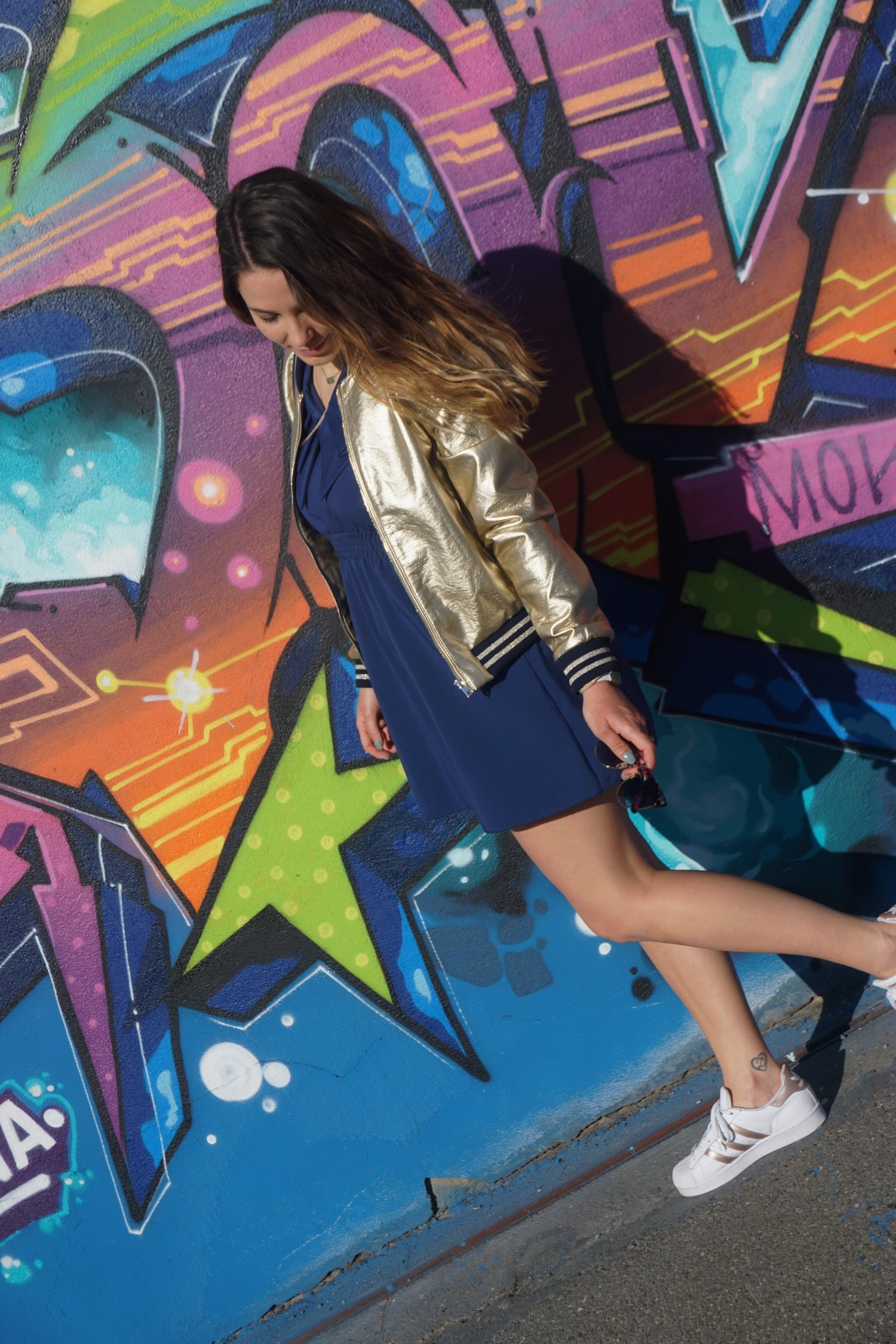 LOOK SPORTWEAR CHIC GOLD SHOOTING PHOTO BLOG MODE BLOGUEUSE BORDEAUX STREET ART BACALAN 11