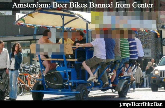 beer bike ban amsterdam