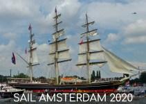 tall ship in Amsterdam