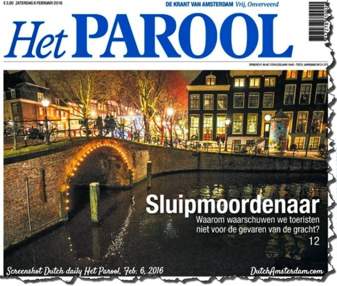 drownings Amsterdam canals
