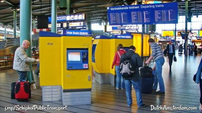 Schiphol train tickets