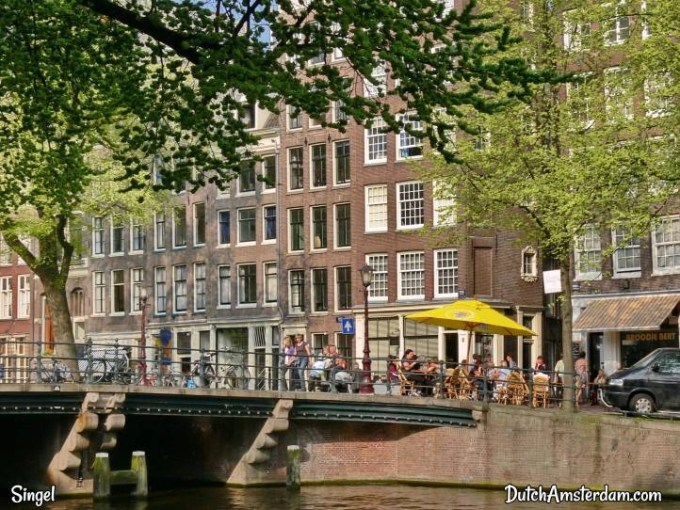 canalside terrace, amsterdam