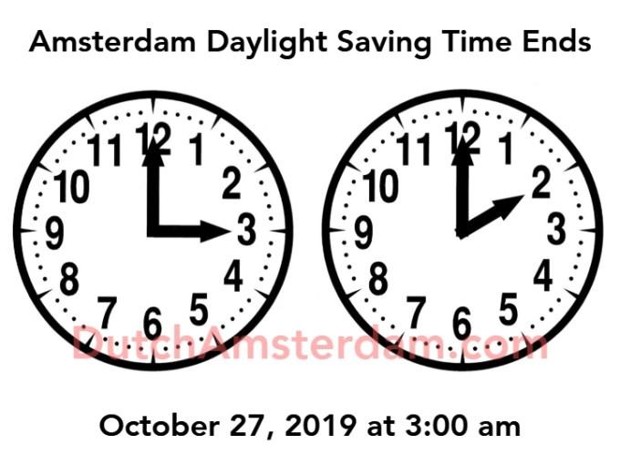 Amsterdam Daylight Saving Time Ends