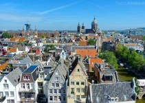 panoramic view of downtown Amsterdam