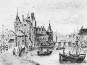 The Regulierspoort (gate) in 1480