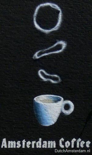 Amsterdam coffeeshop mural Dampkring 2