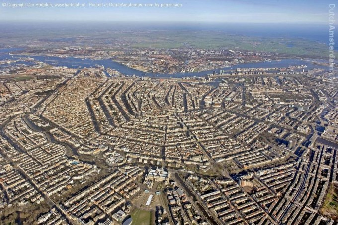 Aerial photo of Amsterdam