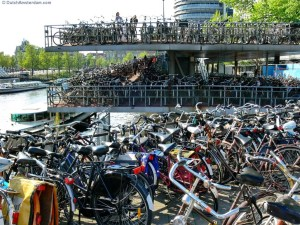 Bicycle parking garage at Amsterdam Central Station