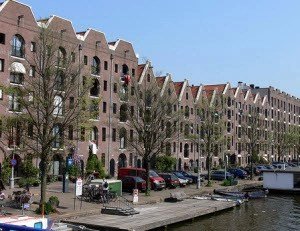 Amsterdam warehouses turned into apartments