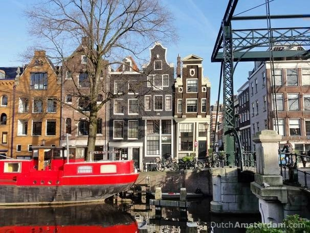 houseboat in an Amsterdam canal