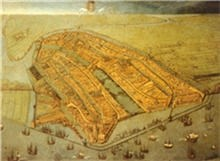 Painting of Amsterdam in 1538.
