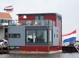 waterwoning -- floating house in Amsterdam