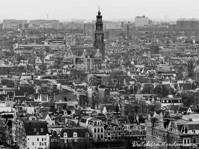 aerial view of Westerkerk
